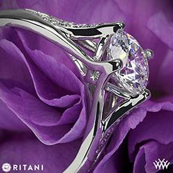 Ritani Modern Diamond Engagement Ring