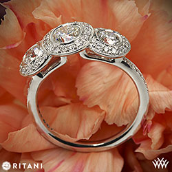Ritani Endless Love 3 Stone Ring
