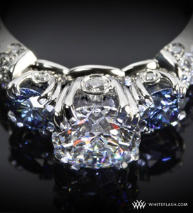champagne-3-stone-engagement-ring-with-diamonds-and-blue-sapphires