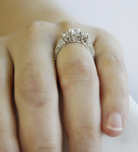 clara ashley engagement ring hand
