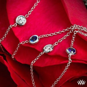 Color Me Mine Sapphire and Diamond Necklace