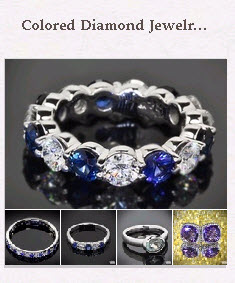 Colored  Diamond Jewelry Pinboard