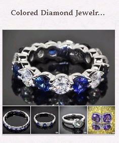 Colored  Diamond Jewelry Pinboard