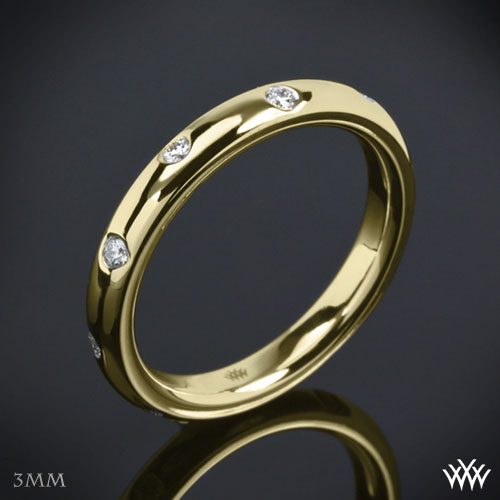 Scattered Diamonds wedding band