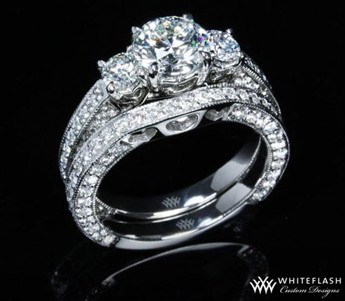 Couer de Clara Ashley Wedding Ring Set