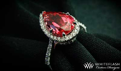 colored cushion cut halo diamond ring