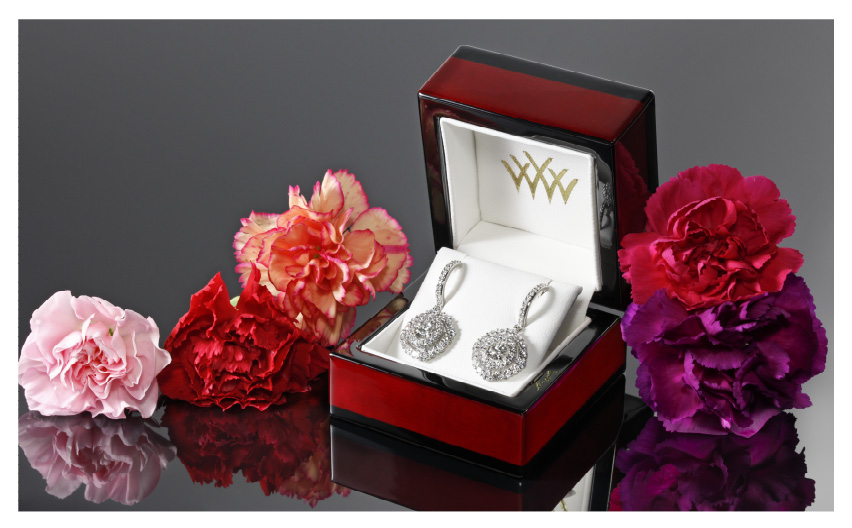 Custom Diamond Earrings August 2014 Whiteflash Jewelry Calendar