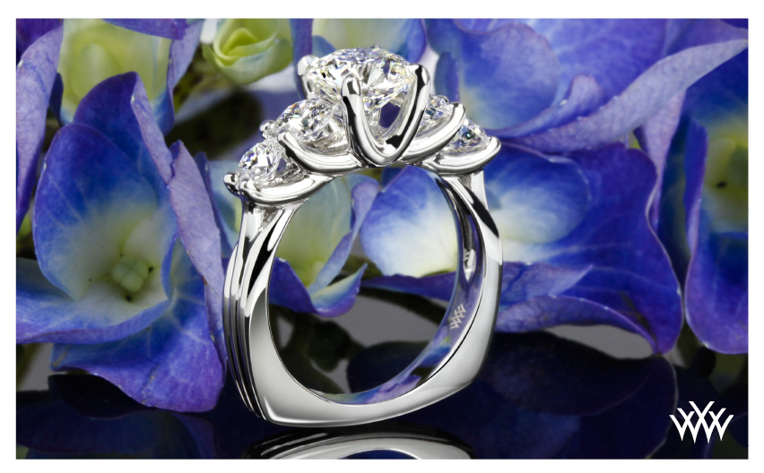 Custom Diamond Engagement Ring September 2014 Whiteflash Jewelry Calendar