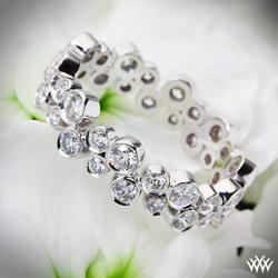 Annettes U-Prong Eternity Diamond Wedding Ring