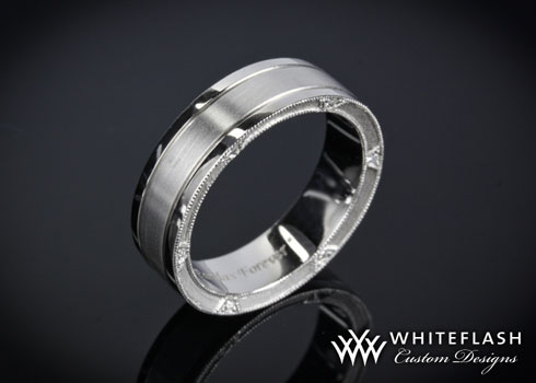 custom mens wedding band - Mens Unique Wedding Ring