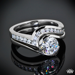 """Iris"" Solitaire Wedding Rings"