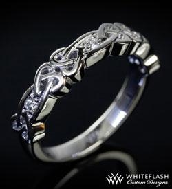 custom wedding band celtic hearts