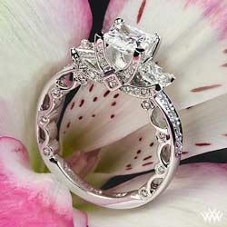 Designer Princess Cut Engagement Ring