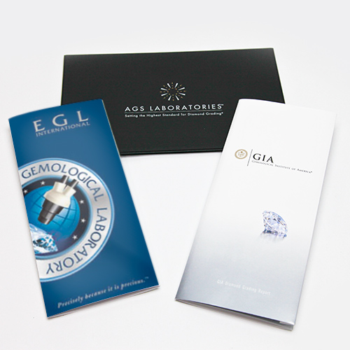 AGS, GIA and EGL Certificates