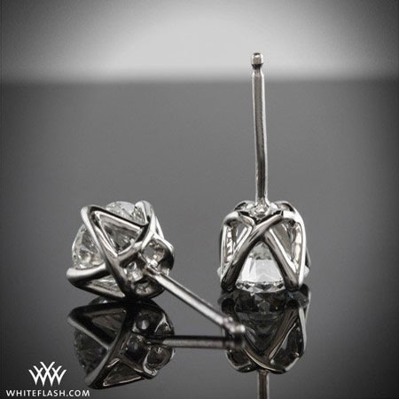 diamond earrings, diamond studs, diamond jackets
