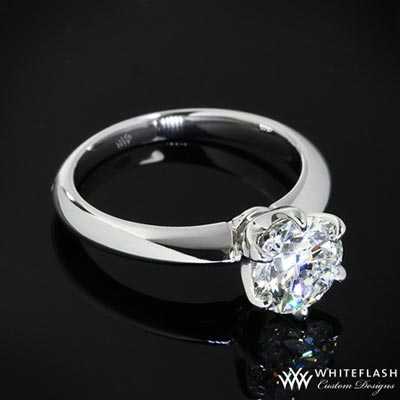 6 prong round cut diamond ring