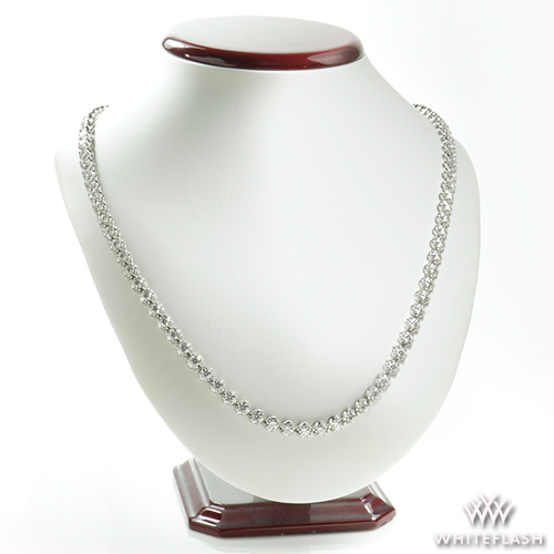 100 Super Ideal Cut Round Diamond Necklace