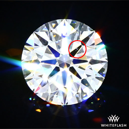 Diamond Clarity Features Intensified by Magnification and Lighting