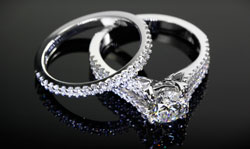 Solitaire Ring Wedding Band