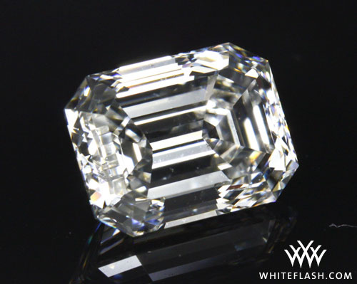 10.5 carat emerald cut diamond