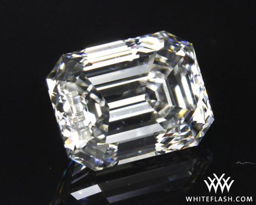 10.5 carat emerald-cut diamond.