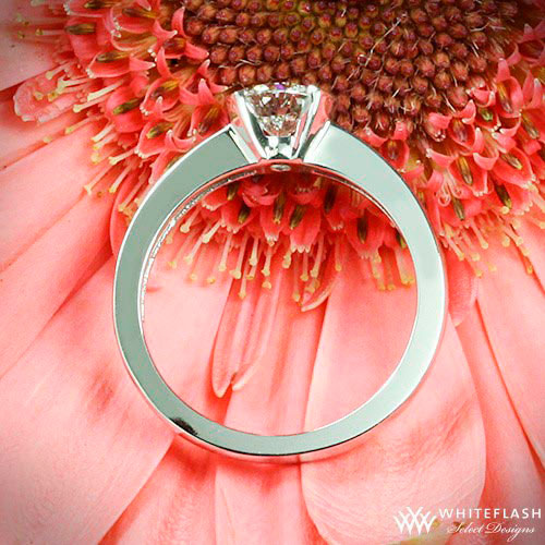 engagement ring on flower