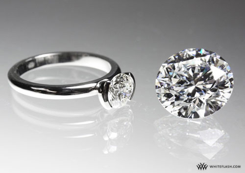 engagement rings ninety ct vs seven and a half ct