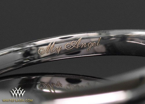 engraving engagement ring