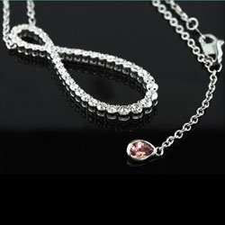 eternity diamond pendant
