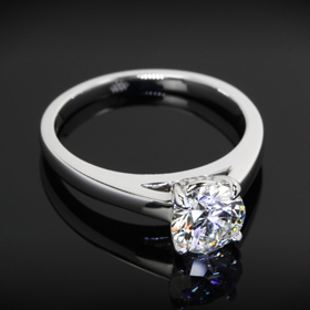 flush fit cathedral engagement ring