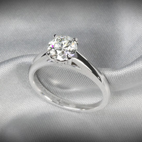 flush fit diamond engagement ring