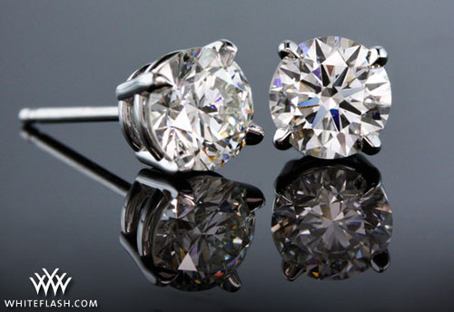 Four G Basket Diamond Studs
