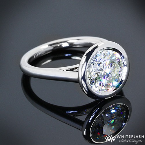Full Bezel Diamond Engagement Ring