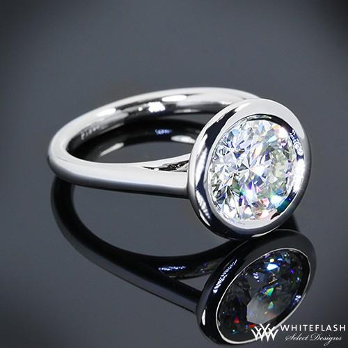 Full Bezel Diamond Engagement Ring