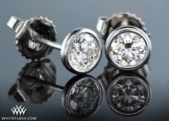 Full Bezel Diamond Studs