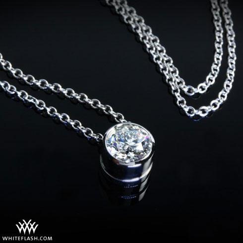 I heart you choosing a diamond pendant full bezel pendant aloadofball Choice Image