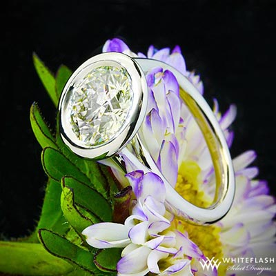 Full Bezel Solitaire Engagement Ring