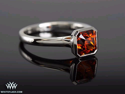 garnet gemstone bezel ring