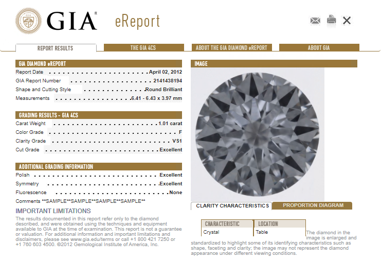 GIA Diamond eReport