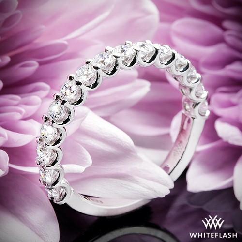 Annette's U Prong Diamond Wedding Ring