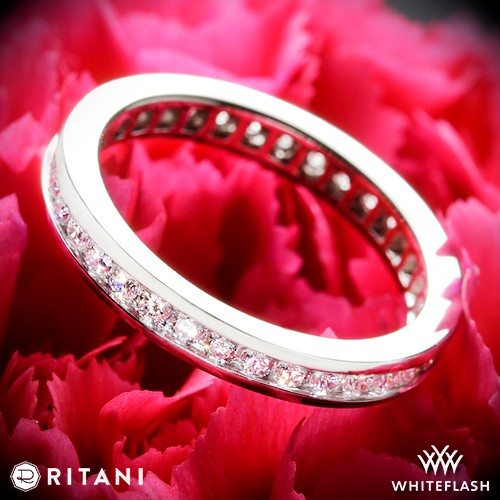 Ritani Channel Set Diamond Eternity Wedding Ring
