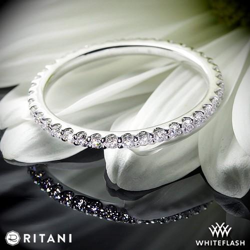 Ritani Full Eternity French Set Diamond Wedding Ring