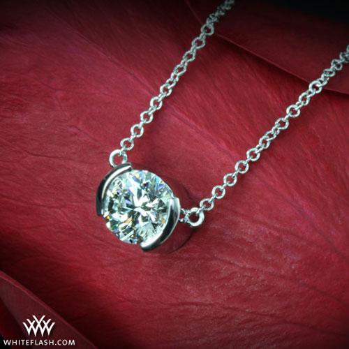 Half Bezel Diamond Pendant