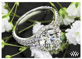 halo custom diamond engagement ring