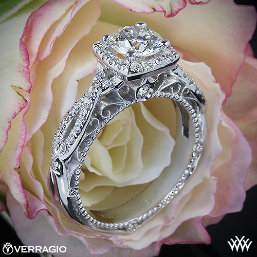 Verragio Halo Engagement Ring