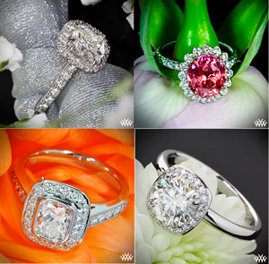 halo engagement rings(2)