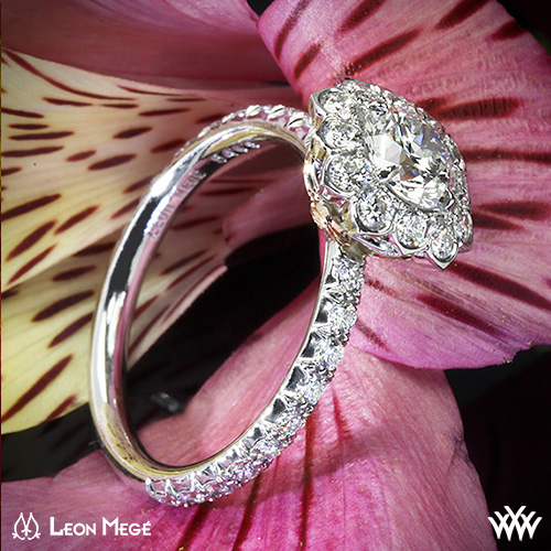 Leon Mege Halo Engagement Ring
