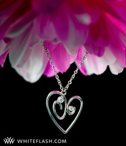 diamond pendant heart shaped