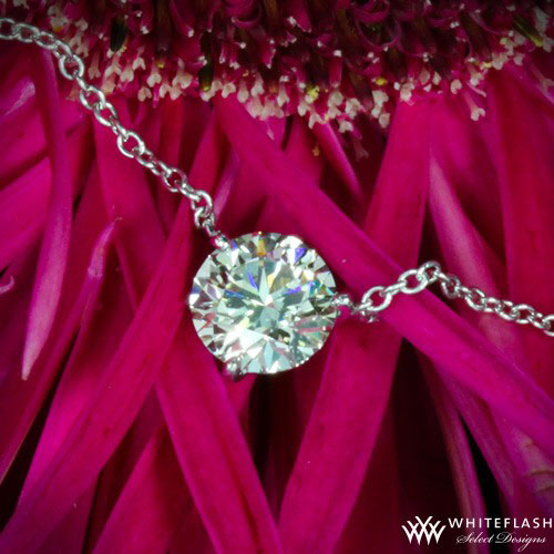 ideal cut solitaire diamond necklace