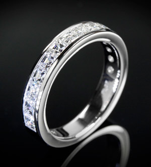 Invisible Diamond Ring Setting